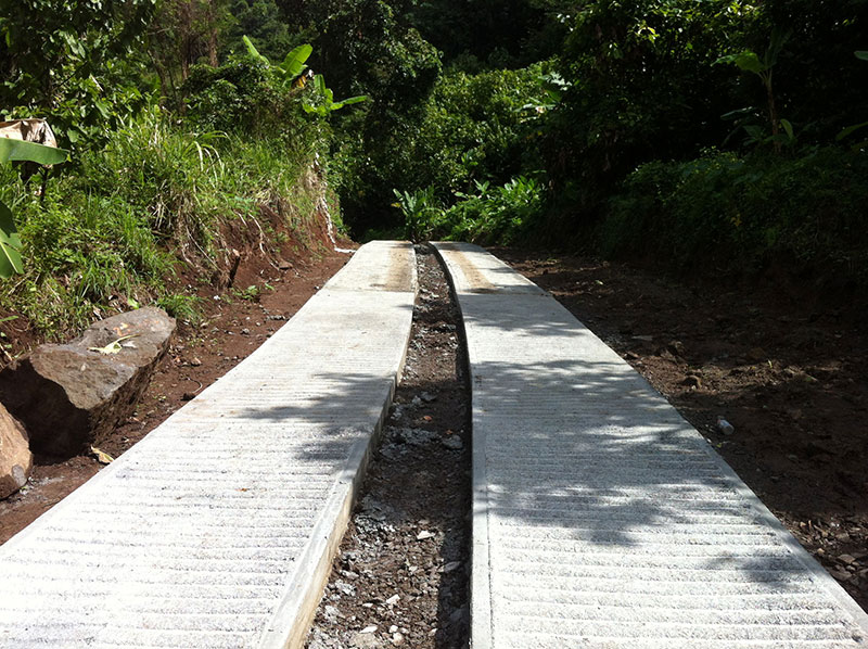 Coulibistrie road construction